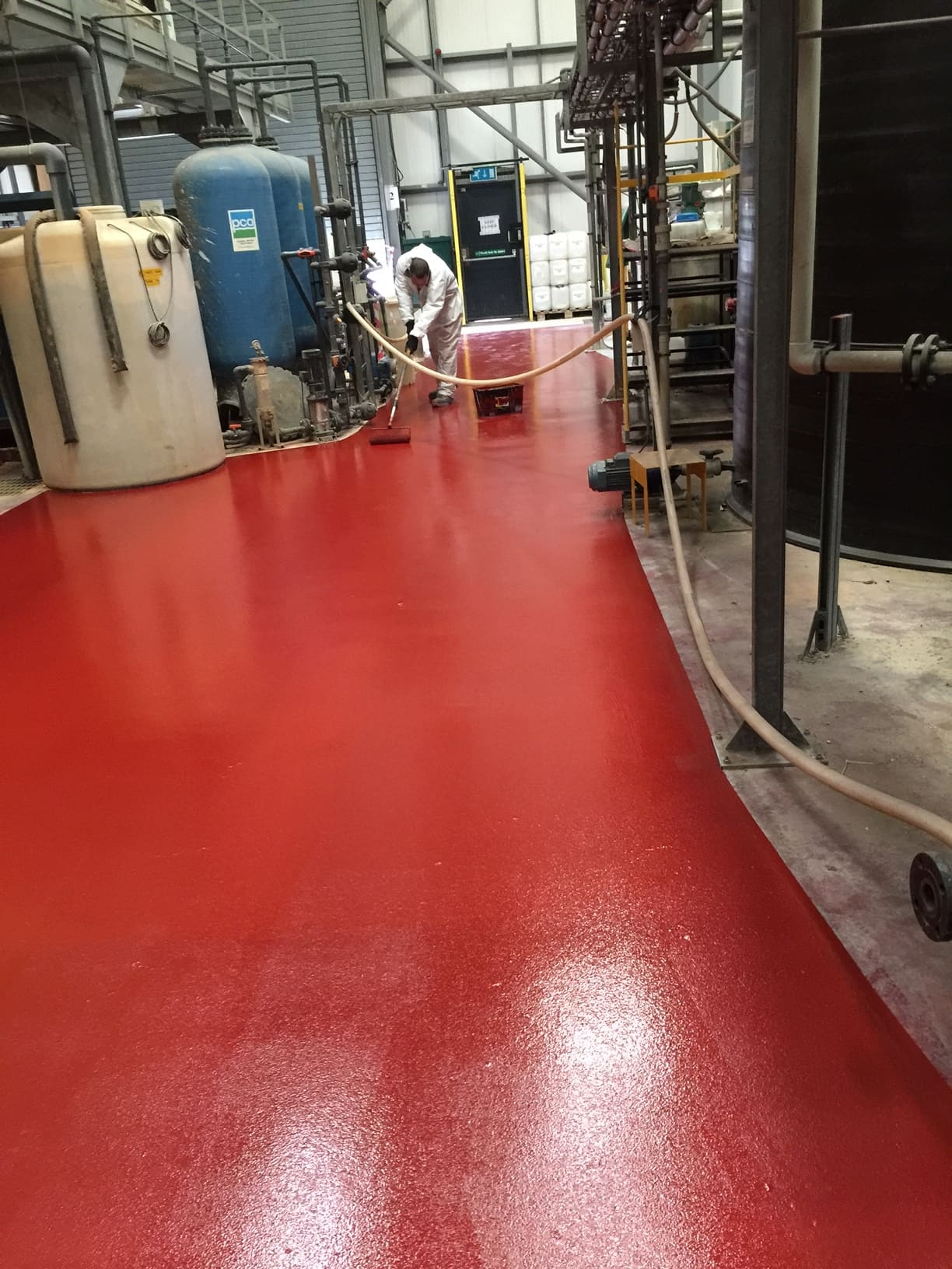 Floor painted with ProCote-CR