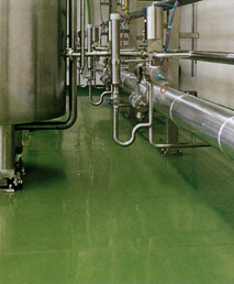 Procote CR SL applied on flooring under storage tanks for chemical protection