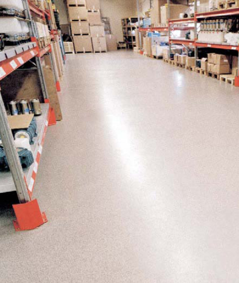 Storage of corrosive liquids requires good chemical resistant flooring protection