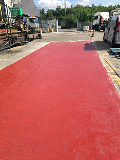 Tanker Unloading Bay Sheffield with Resin Flooring